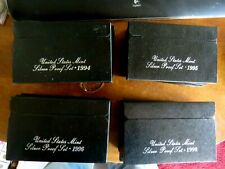 RUN OF 4 UNITED STATES 1994 - 1995 - 1996 & 1998 SILVER PROOF SETS BOX  COA