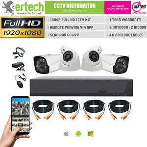 4CH HD DVR Home CCTV Kit 4 Camera Security System APP IR Outdoor Night Vision