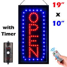Ultra Bright Flashing Led Neon Business Open Sign Board Light with Timer Remote