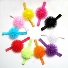 Baby Girls Child Headbands Newborn Polyester Hair bow Bandeau Set YA01 10 Colors
