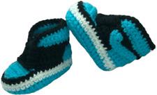 Crochet Baby Sneakers J Basketball Air Handmade Boys Girls Newborn Knit Blue
