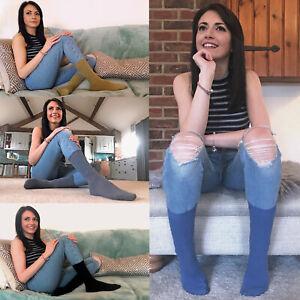 Sock Snob - 6 Pack Women Soft Colorful Plain Thin Cotton Dress Crew Socks - PL30