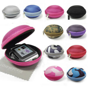 MP3 Player / Earphone Fabric Clamshell Case for Apple iPod Nano 6th Generation