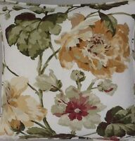 A 16 Inch cushion cover In Laura Ashley Romily Gold fabric