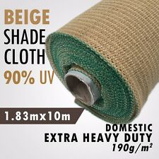 90% UV Beige 1.83m x 10m Heavy Duty Shade Cloth Shadecloth Beige