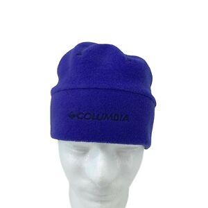 Columbia Beanie Youth Size S/M Blue Fitted Warm Fleece Winter Snow Headwear Hat