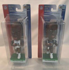 ☆ NEW 2 MARSHALL FAULK Rams 2002 Upper Deck Play Makers BOBBLEHEAD W/CARD F/S