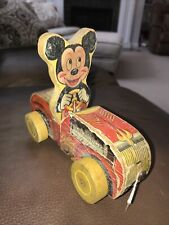 New listing Vintage 1950's Mickey Mouse Walt Disney Fisher Price Puddle Jumper Pull Toy
