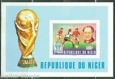 NIGER IMPERFORATED SOUVENIR SHEET WORLD CUP SOCCER ARGENTINA 1978 SC#417 MINT NH