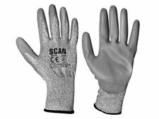 Scan - Grey PU Coated Cut 3 Gloves - Extra Extra Large (Size 11)