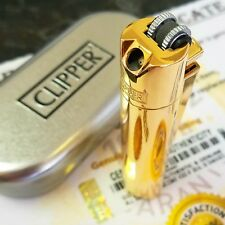 24k Gold Plated Metal Pipe Clipper Lighter Gas Refillable Flint Cigar 24ct Boxed
