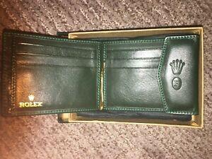 Rolex Green Leather Billfold