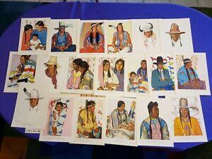 RARE!! Vintage 1940 Blackfeet Indians-Glacier National Pk, Winold Reiss 24 color