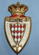 VINTAGE GENDARMERIE DE MONACO POLICE ENAMEL BADGE OBSOLETE ARMED FORCES By DRAGO