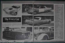 1972 magazine article about BARRIS KUSTOM The Every Car, multi-part TV car