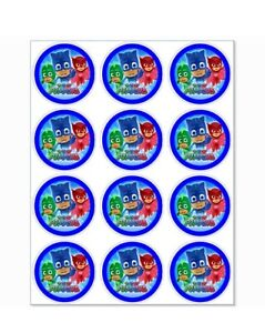 12 PJ Masks Party Stickers