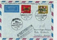 Germany 1963 Special Slogan Cancel Airmail to Portugal Stamps Cover ref 22737