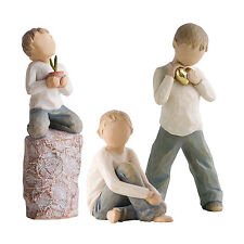 Willow Tree Siblings - Three Brothers Figurine Gift Set Family Group