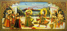 """Lord krishna Playing Holi with Radha and Gopis/Art Print Poster (20""""x40"""" Inches)"""