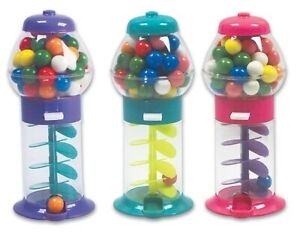 "3 PACK 7"" Spiral Galaxy Colorful GUMBALL MACHINE - Dubble Bubble Twirling"