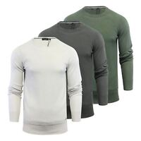 Mens Jumper Brave Soul Carnap Cotton Knitted Crew Neck Sweater