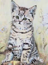 "1985 Royal Worcester/Pam Cooper Kittens Classic 5th Issue ""Tiger's Fancy""Nib/Coa"