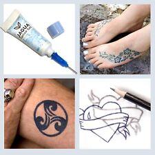 Black/Blue Jagua Temporary Tattoo Kit Last 10-15 Days Inkbox no Henna or PPD! tf