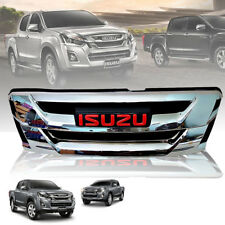 CHROME FRONT GRILL GRILLE LOGO RED FIT FOR ISUZU D-MAX DMAX 2015-2017