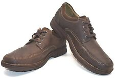 Clarks Senner Burg Leather 67913 Chocolate US Size 11M - FREE SHIPPING BRAND NEW