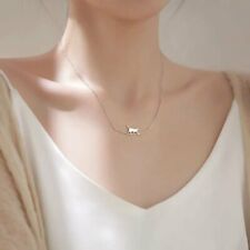925 Silver Cute Cat Pendant Necklace Clavicle Charm Women Chain Jewelry Gifts