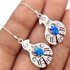American Eagle - Fire Opal 925 Sterling Silver Earrings Jewelry EE171815