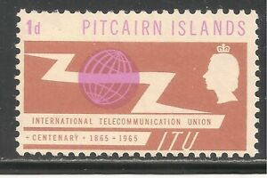 Pitcairn Islands #52 (CD317) VF MINT - 1965 1p ITU Issue