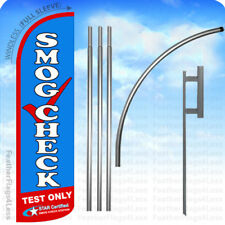 Smog Check Test Only Star Cert Windless Swooper Flag Kit Feather Banner Sign bq
