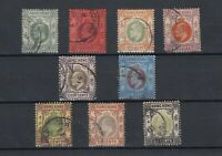 Hong Kong KEVII 1904 Collection Of 9 Values CDS Fine Used JK923