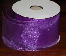 Sheer Organza Ribbon Roll, Orange Green Purple, 2.5� x 25 Yd, Hair Bow Craft