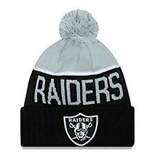 New Era NFL 2015 Sport Game Oakland Raiders Knit  Hat  Beanie Pom pom   9752