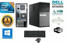 Dell Gaming TOWER PC  i7 3.4GHz 16GB 1TB SSD Win 10 Pro GT730 4gb+ MONITOR 27""