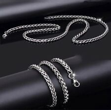 Steel 4mm 22� Keel Chain [Stst-29] Ethnic Men's Necklace Long Titanium Stainless