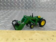 1/64 custom green color 4020 tractor with loader grapple fork tine farm toy
