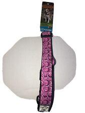 "NEW WT RC Pet Products Medium Pink Swirl Dog Collar 12-20"""