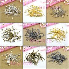 20mm,30mm,40mm,Head Pins,Eye Pins,Silver,Gold,Bronze,Black 5Colors-1 R5019