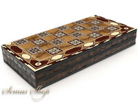 Luxus Backgammon Tavla Intarsien Look XXL MOTIV 50 x 50 cm.