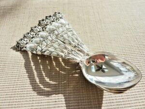 """6 Sterling Silver Teaspoon by Alvin in the """"Bridal Rose"""" Pattern (59729)"""