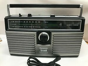 Panasonic RS-836A Vintage Stereo 8 Track Tape Player AM-FM Boombox.