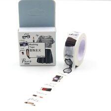 "Washi Tape   Masking Tape   Deko Klebeband, ""Paris Fashion"", 15mm x 10m"