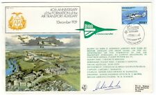 1979 Jersey FLIGHT COVER BA CONCORDE GN44AA flown NY USA signé McMAHON SIGNED