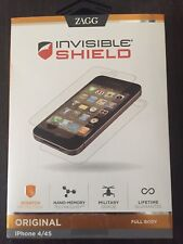 Zagg Invisible Shield Original Full Body protector 3 pk iPhone 4/4S Free US Ship