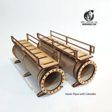 Sewer Pipes with Catwalks 40k  Necromunda 28mm terrain Infinity 40k Kill Team