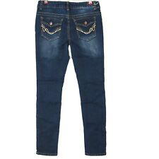 Rue21 Womens Junior Jeans Mid Rise Skinny 9 10 Long X 31 Stretch Flap Pocket