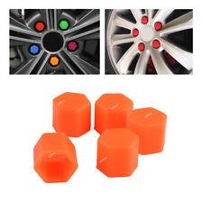 20pcs Universal Orange 17mm Silicone Auto Wheel Lug Hex Nut Caps Bolt Covers